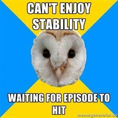 Bipolar Owl how about manic psychosis or suicide? Oh yeah, it can get a whole lot worse. Bipolar disorder is a very serious illness! Chronic Illness, Mental Illness, Chronic Pain, Bipolar Humor, Bipolar Symptoms, Bipolar Quotes, Bipolar Funny, Loving Someone With Depression, Mental Health Memes