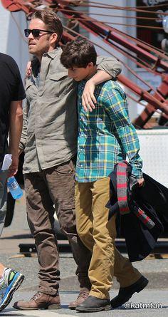 Sean & Jared on set (July 17, 2015)