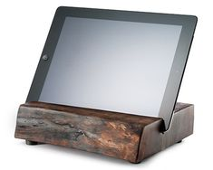 Reclaimed Wood iPad Stand - Kaufmann Mercantile - modern plus rustic Support Ipad, Wood Ipad Stand, Wood Projects, Woodworking Projects, Ipad Holder, Tablet Stand, Into The Woods, Concrete Countertops, Laminate Countertops