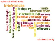 Bloggers share #whydancematters - fantastic links!