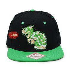 Nintendo Super Mario Bowser Flat Brim Snapback Baseball Cap 3134620d1221