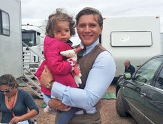 downton abbey: tom branson and baby sybbie <3