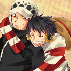 Trafalgar Law x Luffy #one piece #lawlu