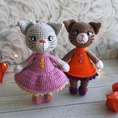 Amigurumi Crochet CAT Pattern. Kitty in coat