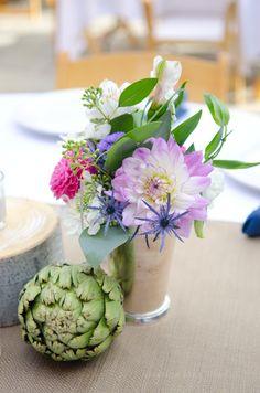 Artichoke centerpieces wedding