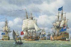 Chatham Dockyard, Ocean At Night, Ship Of The Line, Ship Paintings, Naval History, Wooden Ship, Nautical Art, Sailing Ships, Sailing Boat