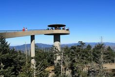Clingman's Dome, NC TN border line! Been there :) Hardest half mile I walked!