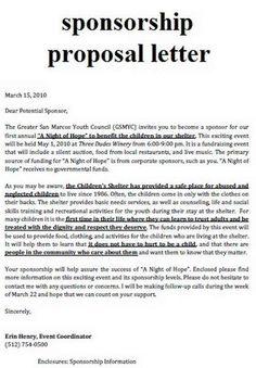event proposal letter