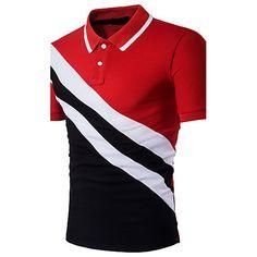 Shop Men Cut And Sew Polo Shirt online. SHEIN offers Men Cut And Sew Polo Shirt & more to fit your fashionable needs. Mens Casual T Shirts, Mens Tees, Men Casual, Shirt Men, Casual Tops, Camisa Polo, Herren T Shirt, Short Sleeve Polo Shirts, Golf Shirts