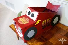 lightening mcqueen box car
