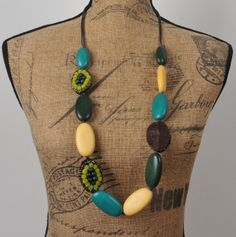 ADELAQUEEN New Multi-Colored Unique Fashion Resin Log Jewelry Sweater Long Necklace