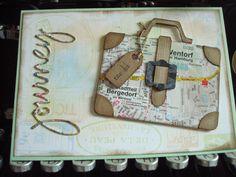 journey card reise karte koffer suitcase sizzix tim holtz