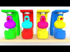Learn Colours with Coffee Maker Machine Kitchen Appliance and Ducks - Colorful for Kids - YouTube