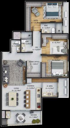 Modern house design plans layout 21 ideas for 2020 Sims House Plans, House Layout Plans, Family House Plans, Dream House Plans, Small House Plans, House Layouts, Sims House Design, Duplex House Design, Small House Design