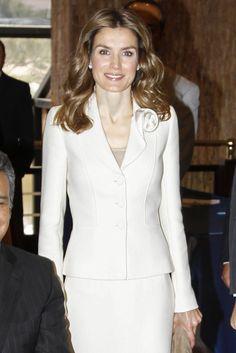 Her Royal Highness Doña Letizia, Princess of Asturias, Princess of Viana, Princess of Girona, Duchess of Montblanc, Countess of Cervera and Lady of Balaguer in Ecuador.