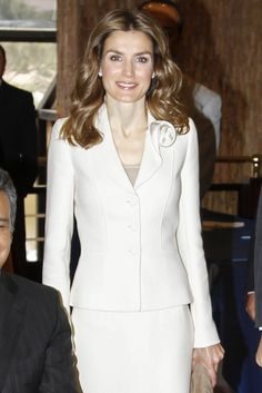 Letizia Ortiz, Princess of Asturias, during an official visit to the Presidential Palace on October 05, 2012 in Quito, Ecuador.