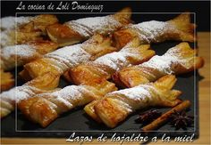 La cocina de Loli Domínguez: Lazos de hojaldres a la miel