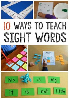 Teach sight words with these fun sight word activities for kids in preschool, kindergarten, and first grade. I love how simple and effective these printables and games are! #sightwords #teachingreading #kindergarten