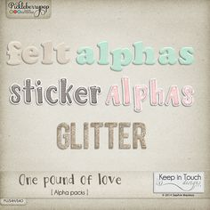 One pound of love [Alphabets]