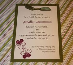 Simple - DIY Invite