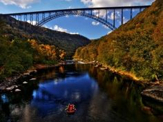 Experience the splendor of the New River Gorge from Under the New River Gorge Bridge. Join us for the walk of your life. Book your West Virginia Bridge walk now! West Virginia Bridge, Virginia Attractions, New River Gorge, On The Road Again, Mountain States, Great Falls, Travel Channel, Down South, Rafting