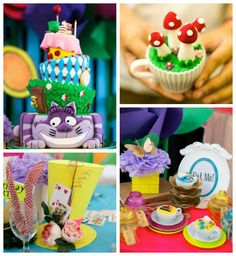 Alice in Wonderland 1st birthday party via Kara's Party Ideas: Wonderful Treats