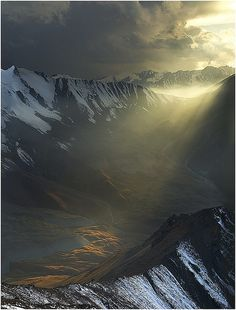 Light in the Dark, Altay Mountains, Kazakhstan (by Vasca de Sole).