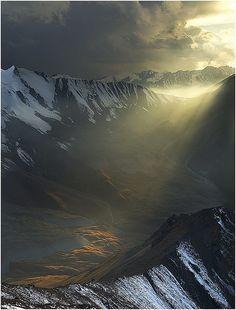 Light in the Dark, Altay Mountains, Kazakhstan (by Vasca de Sole).