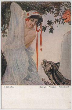 """Defeated"" aka ""Vanquished"".  Sergey Solomko (1867-1928)"