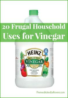 20 Frugal Household Uses for Vinegar - thrifty cleaning tips and household hacks