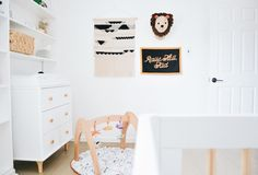 Black and White Boho Nursery