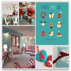 holiday board by fox bear design. minted's first-ever inspiration board challenge.