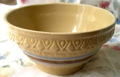 Yellow Ware Bowl from Western Stoneware.