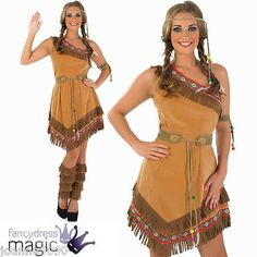 Red indian squaw ladies pocahontas #native american tigerlily #fancy #dress costu,  View more on the LINK: 	http://www.zeppy.io/product/gb/2/201095499449/