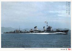 "IJN destroyer ""Inazuma"" on sea trials at Maizuri, March 24, 1936. 日本海軍駆逐艦-電"