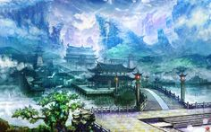 Check out this awesome collection of China Landscape wallpapers, with 50 China Landscape wallpaper pictures for your desktop, phone or tablet. Fantasy Art Landscapes, Fantasy Landscape, Cool Landscapes, Landscape Background, Landscape Wallpaper, Chinese Landscape Painting, Landscape Paintings, Chinese Painting, Dojo