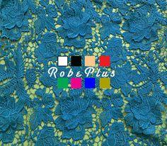 Premium Heavy Lace  3D Floral Applique Lace Fabric  by RobePlus
