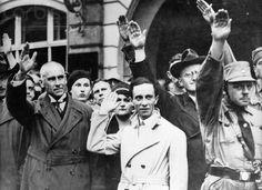 Joseph Goebbels Saluting Nazi Loyalists 1930 - U551493INP - Rights Managed - Stock Photo - Corbis