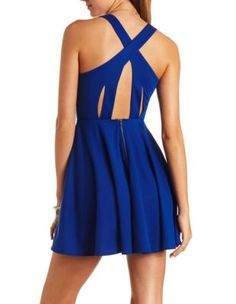 eb9c849679 cross-back cut-out skater dress from charlotte russe Cut Out Skater Dress