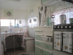 At Sea Cottage one of my fav. blogs... she decorated her RV like this!!! Love it!