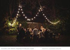 Outdoor party lights | Photo: Q Avenue Photo, Styling: Lauren Ledbetter Design & Styling