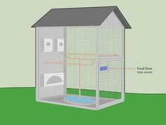 An aviary can increase your bird's quality of life. Birds tend to thrive when they have room to fly and are contained in a natural-looking environment. Aviaries are much larger than a normal bird cage and can be built for both indoor or. Diy Bird Cage, Bird Cages, Budgie Cages, Bird Feeder, Bird Aviary For Sale, How To Build Abs, Do It Yourself Furniture, Bird House Kits, Parrot Toys