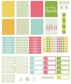 Free Printable Planner Stickers: Marching into April