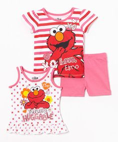 Another great find on #zulily! 'XO Elmo' Shirt & Shorts Set - Toddler by Sesame Street #zulilyfinds