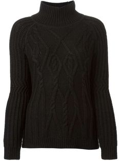 Love the Duffy DUFFY cable knit turtle neck sweater on Wantering.