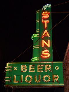Stans Beer Liquor - Neon Sign - Spring Lake, Michigan