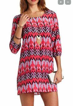 Aztec Print Shift Dress $26.99