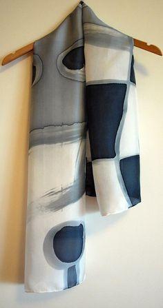 Pañuelo de seda pintado a mano.Regalos para ellas.Fular para