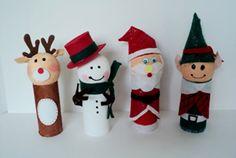 artesanato de natal com rolo de papel higienico 3