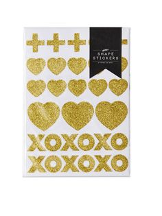 Crosses, hearts, hugs and kisses will add that special sparkle to your gifts, lolly bags, letters, balloons - so much fun!  Each pack contains 4 identical gold glitter shape sticker sheets. Totaling 120 shapes to decorate your life with.  Little Boo-Teek - Gold Heart Stickers | Designer Party Stationary Online | Poppies for Grace Online Jumbo Balloons, Giant Balloons, Poppies For Grace, Lolly Bags, Kids Party Themes, Party Cups, Party Shop, Childrens Party, Baby Design